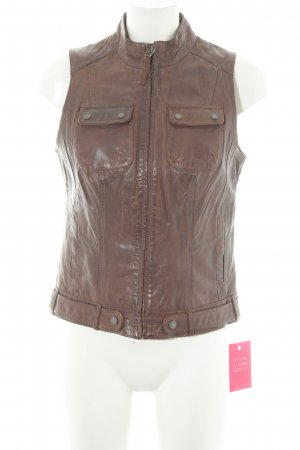 QS by s.Oliver Leather Vest brown casual look