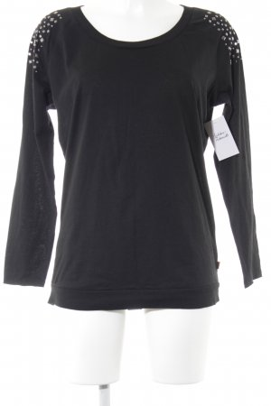 QS by s.Oliver Longsleeve schwarz Casual-Look