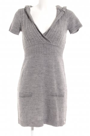 QS by s.Oliver Sweater Dress dark grey-grey weave pattern casual look
