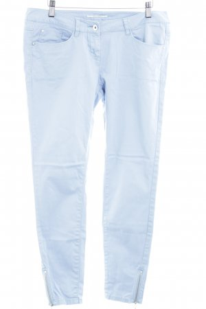 QS by s.Oliver Drainpipe Trousers azure casual look