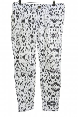 QS by s.Oliver Drainpipe Trousers white-black animal pattern embroidered logo