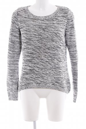 QS by s.Oliver Kraagloze sweater zwart-wit gestippeld