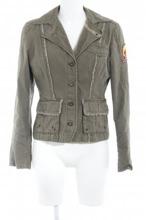 QS by s.Oliver Safari Jacket green grey casual look