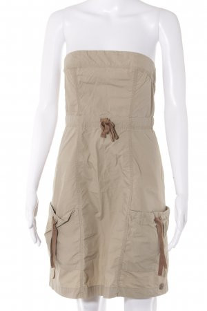 QS by s.Oliver Vestido strapless beige-marrón claro look casual