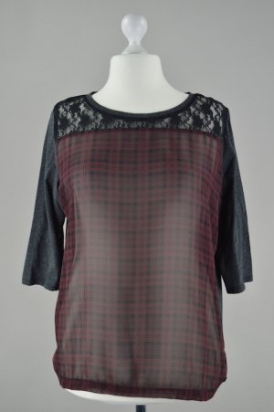 QS by s.Oliver Shirt transparent mit 3/4 Ärmeln lila Größe XXL