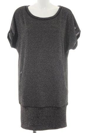 QS by s.Oliver Robe t-shirt argenté-noir pailleté