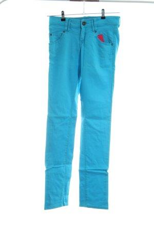 QS by s.Oliver Slim Jeans türkis-blau Casual-Look