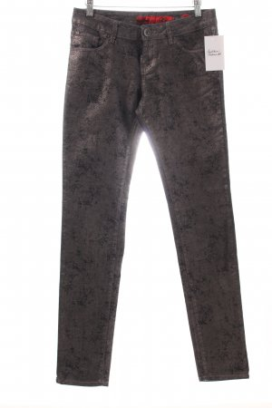 QS by s.Oliver Slim Jeans anthrazit-silberfarben Metallic-Optik