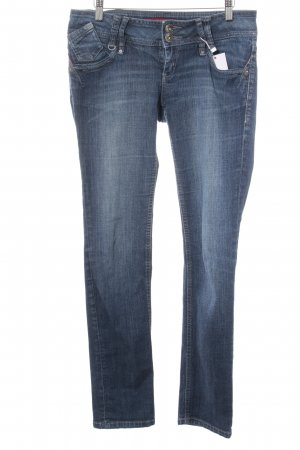 QS by s.Oliver Slim Jeans blau Washed-Optik