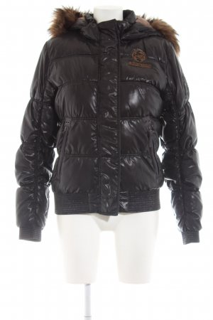 QS by s.Oliver Steppjacke schwarz-braun Steppmuster Casual-Look