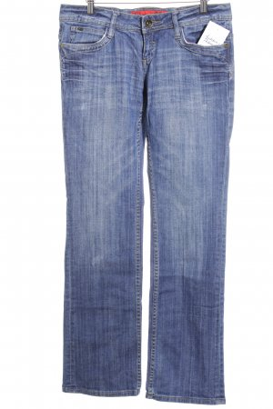 QS by s.Oliver Straight-Leg Jeans graublau-blassblau Casual-Look