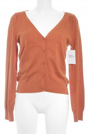 QS by s.Oliver Strickjacke dunkelorange Casual-Look