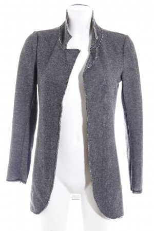 QS by s.Oliver Strickjacke hellgrau-anthrazit meliert Casual-Look