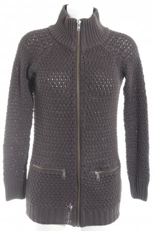 QS by s.Oliver Strickjacke schwarzbraun Casual-Look