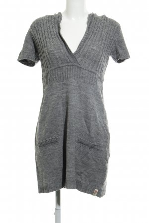 QS by s.Oliver Strickkleid grau Zopfmuster Casual-Look