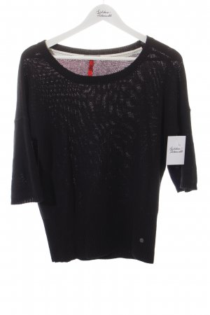 QS by s.Oliver Strickpullover schwarz Casual-Look