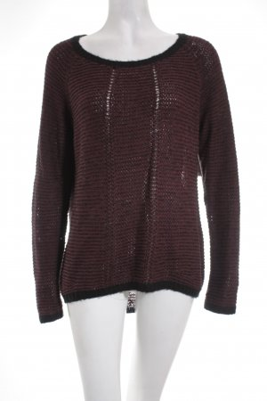 QS by s.Oliver Strickpullover schwarz-karminrot Casual-Look