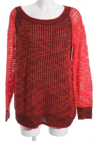 QS by s.Oliver Gebreide trui zwart-rood kleurverloop klassieke stijl