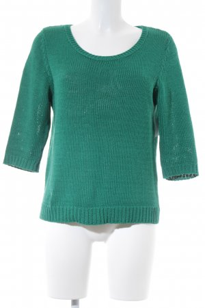 QS by s.Oliver Strickpullover waldgrün Lochstrickmuster Casual-Look