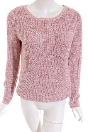 QS by s.Oliver Strickpullover weiß-rostrot Farbverlauf Casual-Look