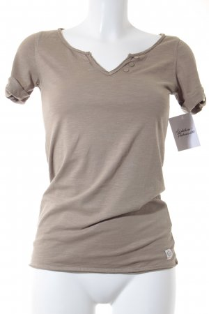 QS by s.Oliver T-Shirt camel meliert Casual-Look