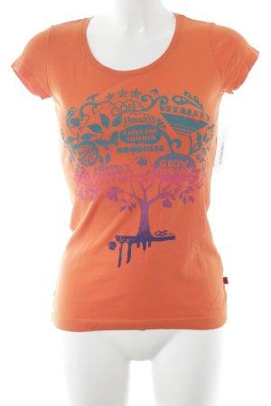 QS by s.Oliver T-Shirt Motivdruck sportlicher Stil