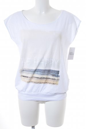 QS by s.Oliver T-Shirt weiß Casual-Look