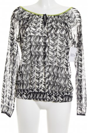 QS by s.Oliver Transparenz-Bluse abstraktes Muster Casual-Look