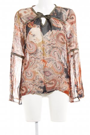 QS by s.Oliver Blouse transparente motif ikat style Boho