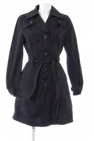 QS by s.Oliver Trenchcoat schwarz Casual-Look