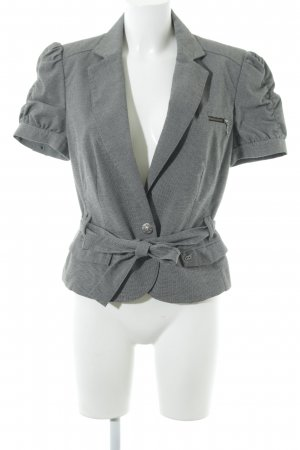 QS by s.Oliver Tweedblazer grau-schwarz Hahnentrittmuster Business-Look
