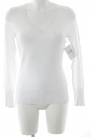 QS by s.Oliver V-Neck Sweater white simple style