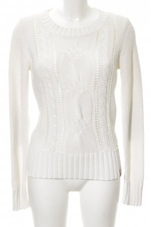 QS by s.Oliver Cable Sweater white cable stitch casual look