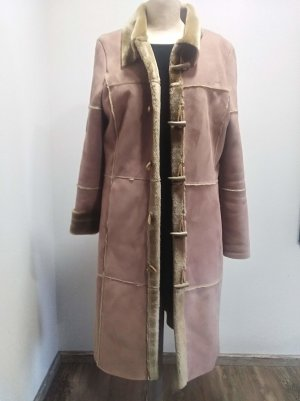 QS by s.Oliver Fake Fur Coat light brown-camel polyacrylic