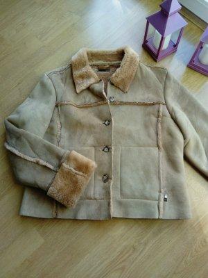 QS kuschelige kurze Jacke in Wildleder Optik M/L