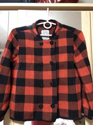 QS by s.Oliver Giacca di lana nero-rosso mattone
