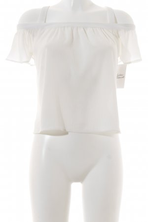 Qu Zu Carmen Blouse natural white romantic style