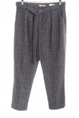 Qu Zu Peg Top Trousers grey-light grey herringbone pattern simple style