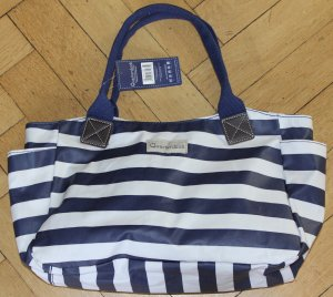 Carry Bag white-dark blue