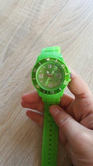 Horloge neon groen