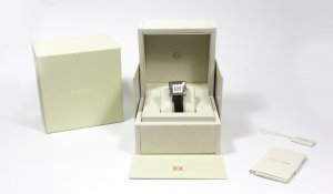 Escada Watch With Leather Strap black-silver-colored leather