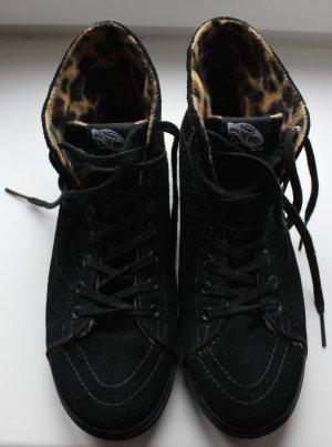 quasi neu coole Vans Wildleder Fütterung mit Leopardenmuster 40 us 7,5 9