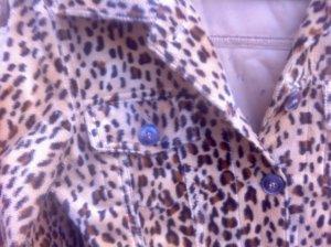 quasi NEU: Leopard-kunstfell-Bikerjacke, (caGr.38-40) Maße kontrollieren
