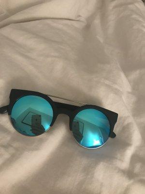Quay Bril zwart-neon blauw
