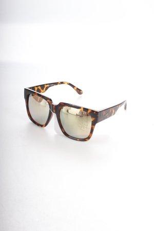 Quay eckige Sonnenbrille braun-dunkelbraun Animalmuster extravaganter Stil