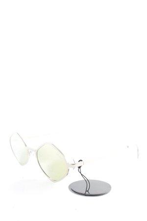 Quay eckige Sonnenbrille goldfarben extravaganter Stil