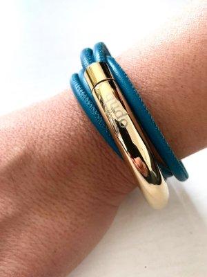 qudo - Leder Armband - Doppio Big - gold