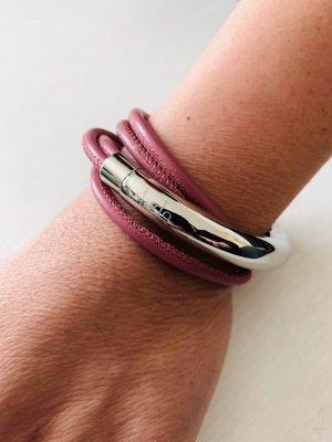 qudo - Leder Armband - Doppio Big - silber