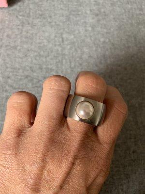 Statement ring zilver Edelstaal