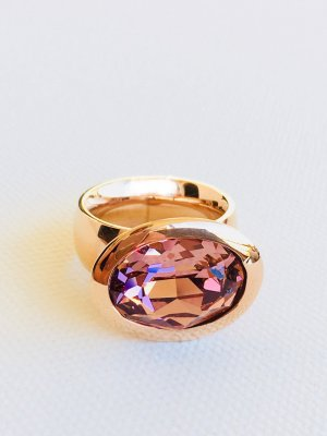 Lizas Ring rose-gold-coloured stainless steel